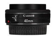 Canon EF 40mm f/2.8 STM (pancake) Side View (extended)