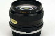 Kiron 24mm f/2.0 MC Side View showing model name inscriptio and filter size