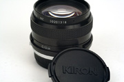 Kiron 24mm f/2.0 MC Side View showing original lens cap, serial number position and mount type inscription position