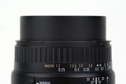 Sigma AF 28-80mm 3.5-5.6 Aspherical Macro for Canon EF Side View showing full zoom extension and focus limiter