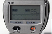 Sunpak PZ40X for Canon EOS Back View showing LCD screen, control elements, model name inscription and dedication type